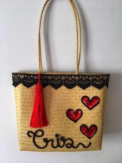 Bolsa De Palha Love