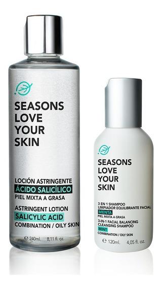 3en1 Shampoo Facial Equilibrante 120ml + Loción Astringente