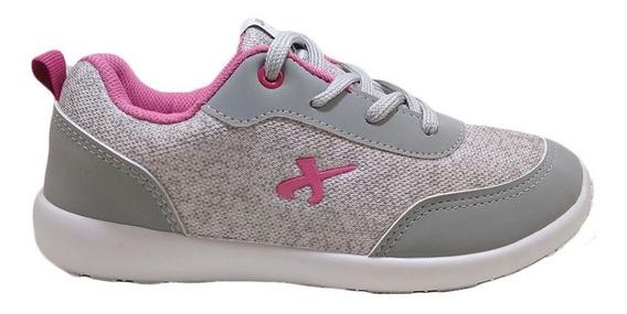 Zapatillas Jaguar Mujer Joggers Urbanas Gris-rosa Nº27/33