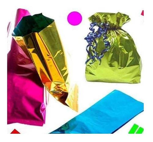 Imagen 1 de 10 de 100 Bolsas Celofán P Dulces Recuerditos Fiesta Evento Color