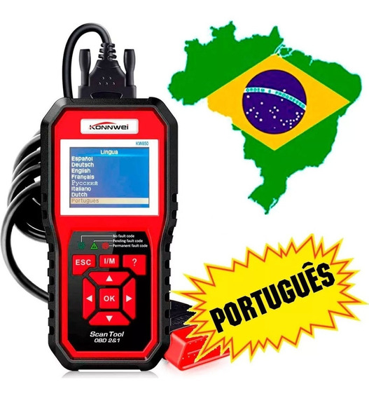 Scanner Automotivo Konnwei Kw850 Obd2 Em Portugues Original