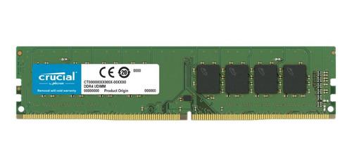 Imagem 1 de 1 de Memória RAM color Verde  16GB 1x16GB Crucial CT16G4DFRA266