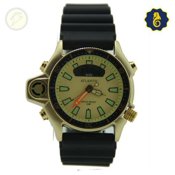 Relogio Atlantis Aqualand Jp2000 Original Serie Ouro Prata