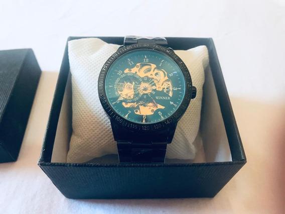 Relógio Masculino Winner Esqueleto Mecânico Original Importa
