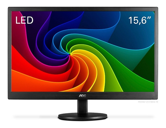Monitor Aoc Led Aoc 15.6 Polegadas E1670swu/wm