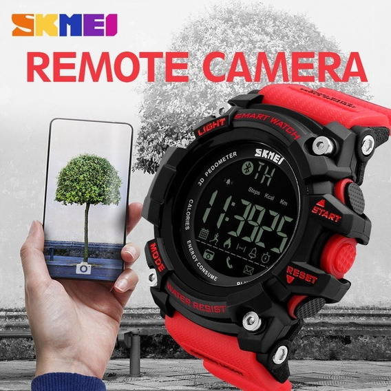 Relógio Skmei 1227 Bluetooth Smart Watch Android Ios Vermelh