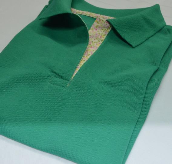 Chomba Pique Tipo Polo Color Beneton Mujer