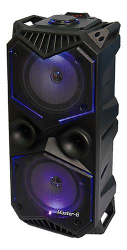 Parlante Master-G SPBYF7 portátil con bluetooth negra
