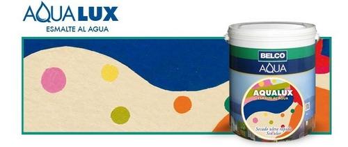 Esmalte Al Agua Premium Aqualux  0.9 Litros Belco Colores