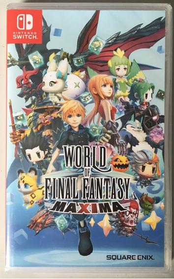 World Of Final Fantasy Maxima Switch Mídia Física