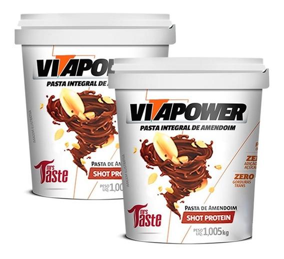 2x Pasta - Shot Protein - 1kg Cada - Vitapower