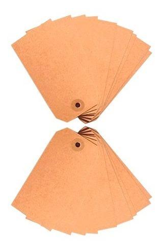 Tags X 120 U Papel Madera Set De Etiquetas Cortadas 8x4 Cm