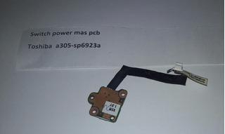 Switch Power Toshiba A305 Informática Fyl