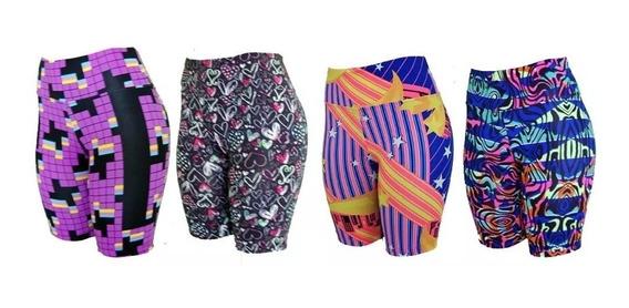 Kit 20 Shorts Feminino Comprido P/ Academia - Atacado