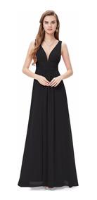 Vestido Fiesta Negro Talla 8 10 12 18 Modelo Ep 07