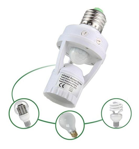 Sensor De Movimento Com Soquete E27 Infravermelho P/ Jardins