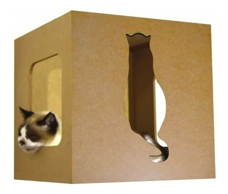 Nicho Para Gatos Cat Box - Gato De Costas - Lilás