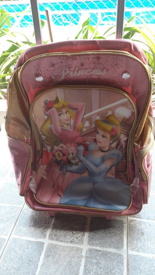 Mochila Princesas Disney Original, Importada De Ee.uu