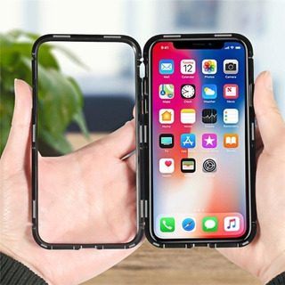 Capa Capinha Magnetica Luxo iPhone 7 8 Plus X Xs Xr Xs Max