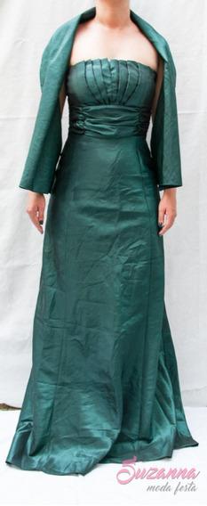 Vestido De Festa Longo Com Echarpe