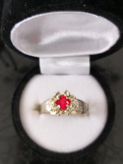 Anel De Formatura De Direito Feminino Pedra Vermelha Rubi