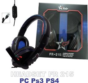 Headset Gamer Fr-215 Microfone Usb Potente Pc Ps3 Feir