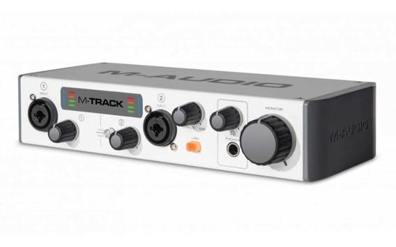 Interface De Gravação Usb Com 2 Entradas E 2 Saídas M-audio