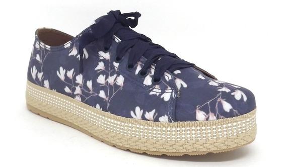 Tênis Feminino Casual Redsun 211906360 Azul/floral