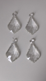 4 Pingentes Modelo Bacalhau Para Lustre De Cristal,