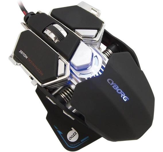 Mouse Gamer Mecânico Dazz Cyborg 4000dpi 622462 - Preto