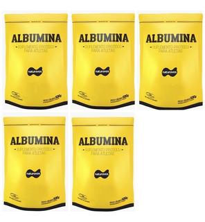 5x Albumina 500g Naturovos Total 2,5kg - Com Sabor