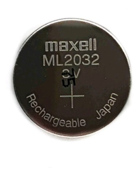 Bateria Original Maxell Ml2032 Recarregavel