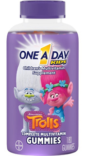Vitamina One A Day Bayer Kids Trolls Com 180 Gummies