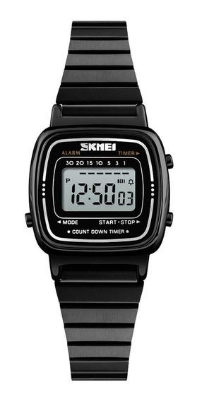 Skmei Ms. Simples Relógios De Quartzo 1252 Black-faced Black