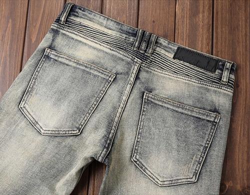 Pantalones Vaqueros Ajustados De Mezclilla Para Hombre Mercado Libre