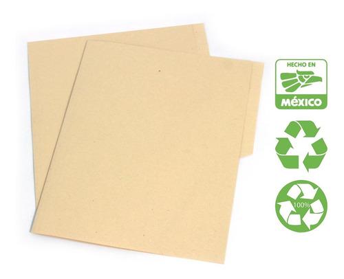 Folder Reciclado Tamaño Carta Color Crema 200 Folders