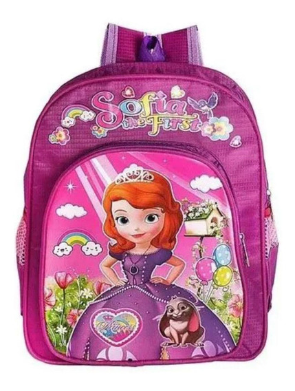 Mochila Infantil Escolar Feminina Princesa Sofia Menina