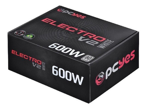 Fonte Pcyes Gamer Electro V2 White 600w 80 Plus White