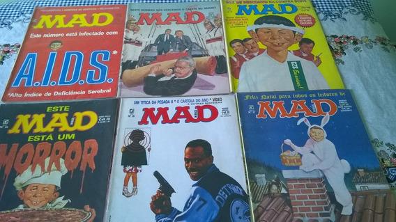 6 Revistas Mad Nos. 29,30,31,34,35,37- Humor/sátira Política