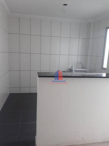 Apartamento Com 2 Dormitórios À Venda, 48 M² Por R$ 155.000 - Residencial Parque Áustria - Jardim Bertoni - Americana/sp - Ap1178
