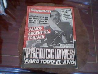 Revista Semanario/14 Diciembre 1983 Alfonsin / Envios