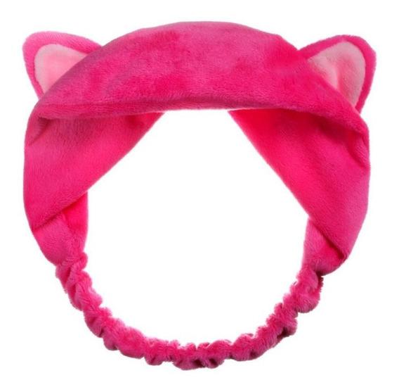 Tiara Orelhas De Gato Pelúcia Headband Cosplay Menina Cores