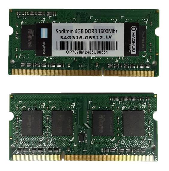 Memoria Ram Para Notebook 4gb Ddr3 1600 Mhz Mod Nuevo