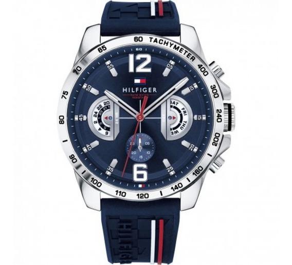 Relógio Masculino Tommy Hilfiger Analógico Azul E Prata