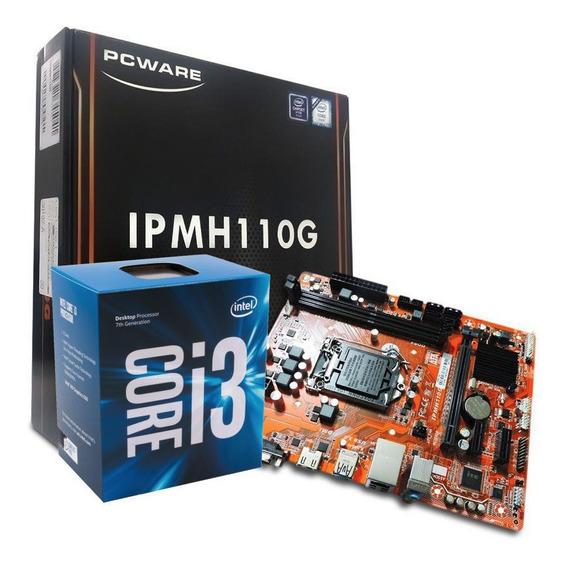 Kit Processador Intel I3 6100 Ipmh110g Ddr3 Com Nota Fiscal