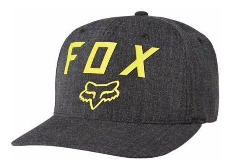 Gorra Number 2 Flexfit Moto Gris Fox Original Juri Atv