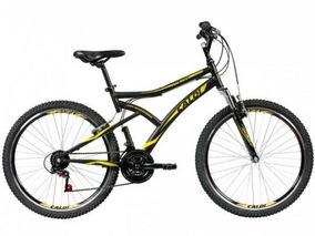 Bicicleta Caloi Andes Aro 26 21 Marchas Freio V-brake Preto