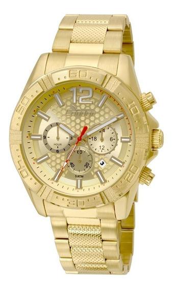 Relógio Condor Cronógrafo Dourado
