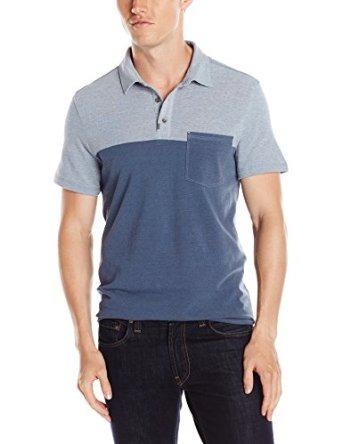 Calvin Klein Jeans Hombres Piqué Color Block Polo
