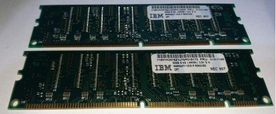 2 Memorias Ram Sdram Dimm 32mb 100mhz Ibm Fru-01k1146